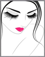 Gerahmte Poster  Lash extension beauty icon