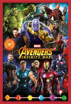 Gerahmte Poster  Avengers: Infinity War – Characters