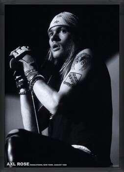 Gerahmte Poster Guns N Roses (Axl Rose) - Middletown, New York, August 1988