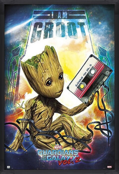 Gerahmte Poster Guardians Of The Galaxy Vol 2 - Groot