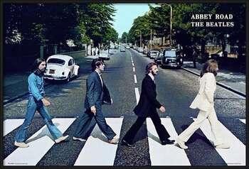 Gerahmte Poster Beatles - abbey road