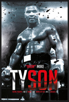 Gerahmte Poster Mike Tyson - Boxing Record