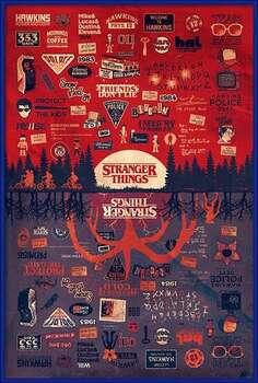 Gerahmte Poster Stranger Things - The Upside Down