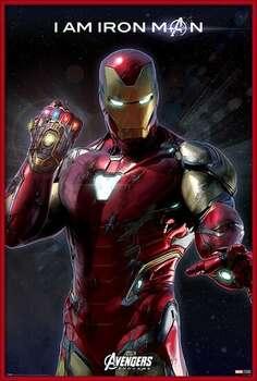 Gerahmte Poster Avengers Endgame - I Am Iron Man