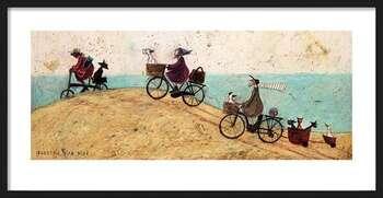 Gerahmte Poster Sam Toft - Electric Bike Ride