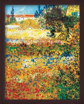 Gerahmte Poster Flowering garden, 1898