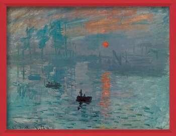 Gerahmte Poster Impression, Sunrise - Impression, soleil levant, 1872