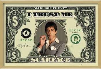 Gerahmte Poster SCARFACE - dollar