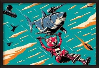 Gerahmte Poster Fortnite - Laser Shark